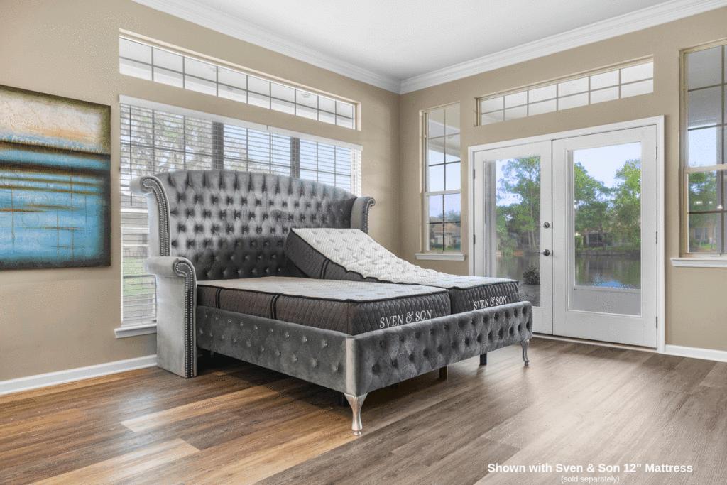 Picture of: Platinum Base Only Adjustable Frame Sven Son Split King Adjustable Bed Base Frame Lumbar Head Tilt Home Kitchen Adjustable Bases