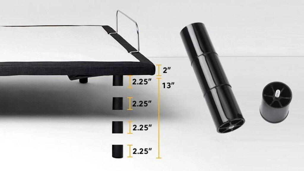 Nolah Adjustable Base Review - height adjustable legs